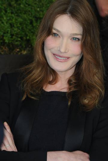 Carla Bruni, cantante y ex primera dama de Francia.