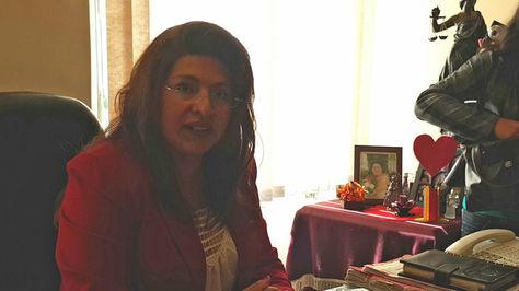 La presidenta del Tribunal Departamental de Justicia de La Paz, Carmen del Río Quisbert. Foto: La Razón