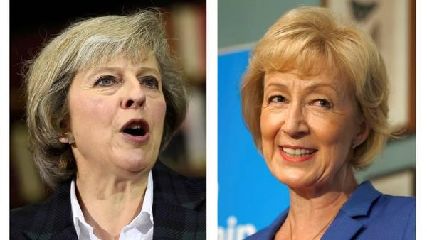 Theresa May (izq.) y Andrea Leadsom competirán para suceder a David Cameron. /Reuters