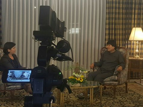 El presidente Evo Morales durante su entrevista en AbiaYala. Foto: @es_pueblo