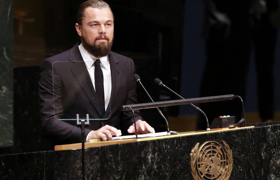 DiCaprio, durante su intervención en la ONU.