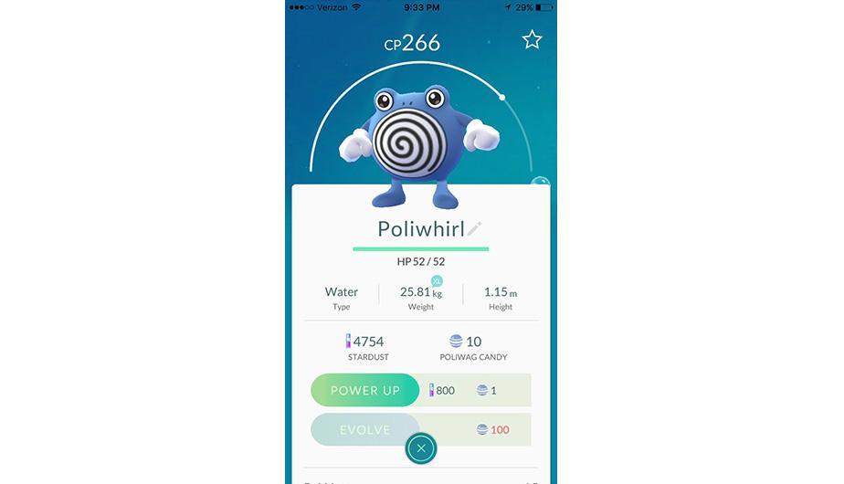 Poliwhirl es otro tipo de Pokémon que cuesta evolucionarlo. (Foto: Nintendo)