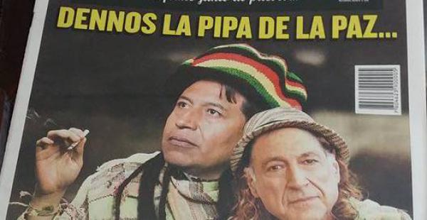 The Clinic encontró inspiración en la visita de Choquehuanca para su portada