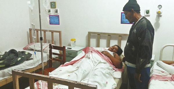 Uno de los 14 heridos que llegó a Yapacaní para ser atendido