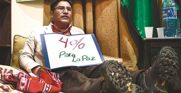 Patzi no quiere conformarse con solo Bs 228 millones anuales que le da el poder central