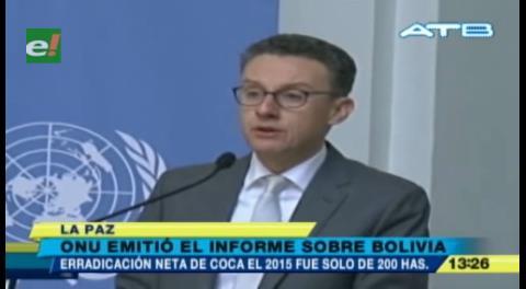Cultivo de coca en Bolivia disminuye 1% durante el 2015