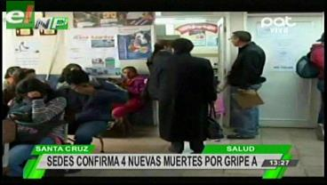 Sedes confirma 4 nuevas muertes por Gripe A
