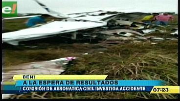 Comisión de aeronáutica civil investiga accidente en Beni