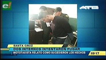 Dos internos de Palmasola intentaron fugarse
