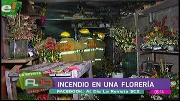 Incendio en una florería