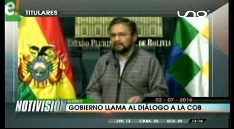 Titulares de TV: Gobierno se reunirá con la COB