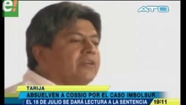 Tarija. Cossío fue absuelto en caso que motivó su suspensión y Fiscal anuncia proceso contra jueces
