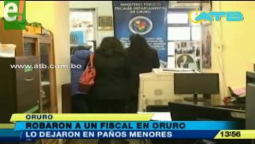 Asaltan y agreden físicamente a un fiscal en Oruro