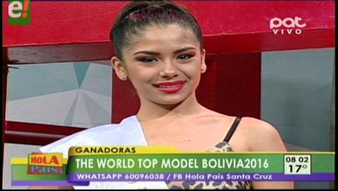 Katherine Vaca ganó el World Top Model Bolivia