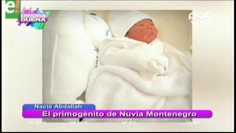 Nació el primogénito de Nuvia Montenegro