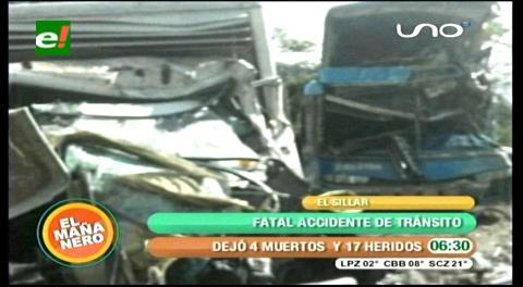 Se confirman 4 muertos y 17 heridos por el accidente entre camión y una flota