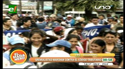 Santa Cruz: Gremiales toman las calles y advierten con bloqueos