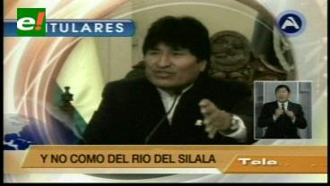 Titulares de TV: Evo ya habla de un primer triunfo contra Chile por las aguas del Silala