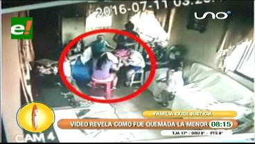 Fue un accidente: Video revela como fue quemada una menor con agua hirviendo