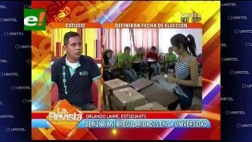 Uagrm: Universitarios presentarán una demanda judicial contra la presidenta de la CEP