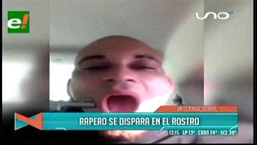 Rapero se dispara en el rostro como parte de un video musical