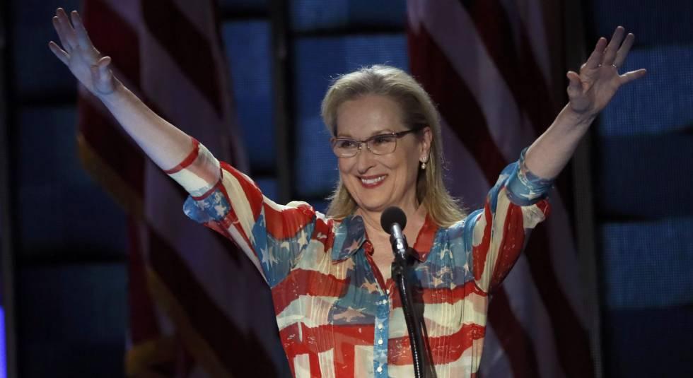 La actriz Meryl Streep, la semana pasada en la convención demócrata en Filadelfia.