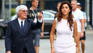 Bernie Ecclestone y su esposa Fabiana Flosi.