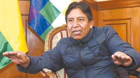 El canciller David Choquehuanca en diálogo con la Razón.