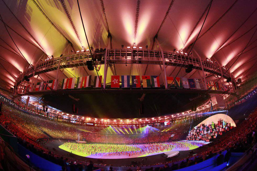 El estadio de Maracaná, visto desde uno de sus gradas laterales.