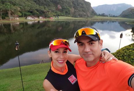 Carla Morón y su esposo Pedro Gantier