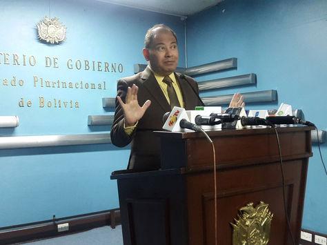 Ministro de Gobierno de Bolivia, Carlos Romero. Foto: Ministerio de Gobierno