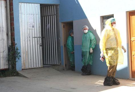 Frontis de la Morgue de La Paz. Foto: Luis Salazar
