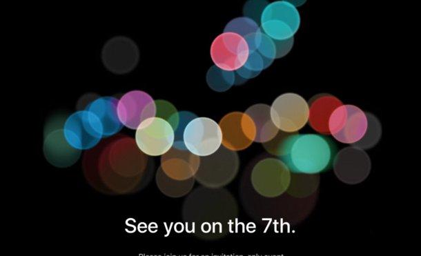 Confirmada la fecha para el evento del iPhone 7