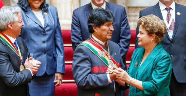 Fue la última mandataria en arribar al país para la posesión de Evo Morales y la primera en irse.