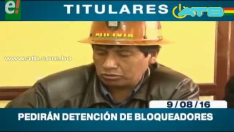 Titulares de TV: Gobierno pedirá detención de bloqueadores