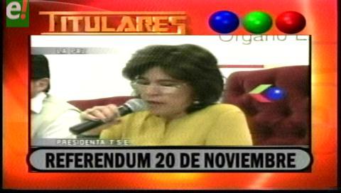 Titulares de TV: El 20 de noviembre 8 municipios del país someten a referéndum sus Cartas Orgánicas