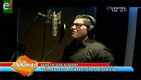 """""""Dímelo"""" el primer sencillo de David, el ganador de Star Academy"""