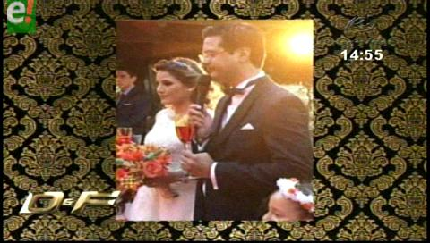 María Belén Fortún y Jorge Áñez se casaron
