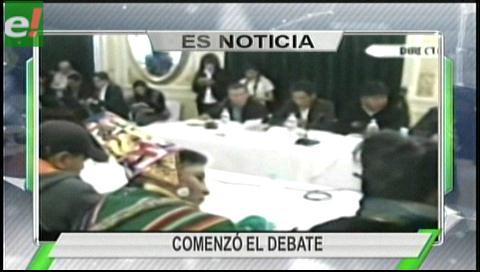 Titulares de TV: El Consejo Nacional Autonómico se reúne en La Paz por el pacto fiscal