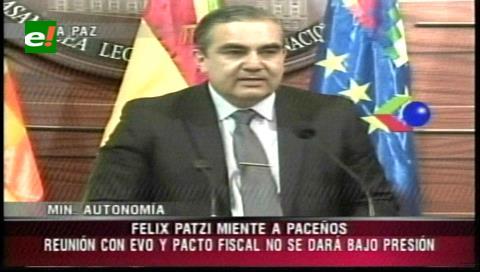 Siles: Es una vergüenza que Patzi diga desconocer información sobre el Consejo Nacional de Autonomías