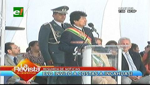Evo quiere inaugurar Incahuasi con el gobernador de Santa Cruz Rubén Costas