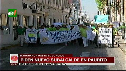 Vecinos de Paurito marchan al Concejo Municipal, piden un nuevo subalcalde