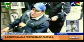 Gobierno condena agresión a periodista por parte de cooperativistas