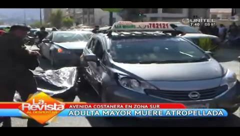 La Paz: Mujer de la tercera edad muere atropellada en la avenida Costanera