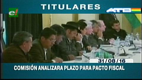 Titulares de TV: Comisión del Consejo Nacional de Autonomías analizará plazo para el pacto fiscal