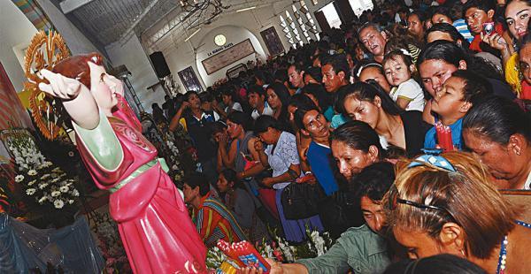 Los devotos empezaron a llegar ayer a Buen Retiro, donde se encuentra el santuario
