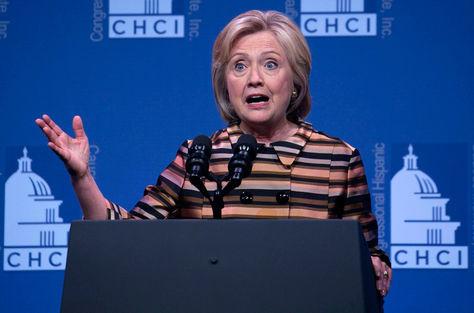 La candidata a la presidencia de los Estados Unidos Hillary Clinton en un acto realizado ayer. Foto: EFE