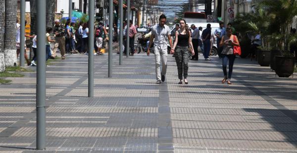 Así lucen los pasillos de la plaza 24 de Septiembre, escenario de la sesión de honor del jueves