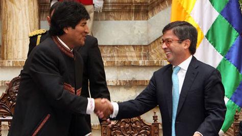 Morales y Moreno en un encuentro en Palacio de Gobierno registrado en 2013