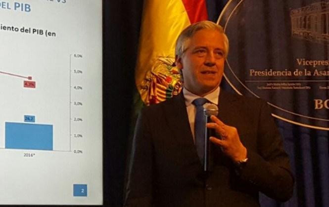 García Linera dice que Comcipo con paro busca un posicionamiento político